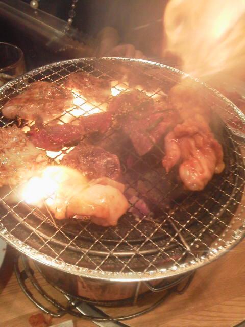 久しぶりの焼き肉(*^<br />  ¬^*)